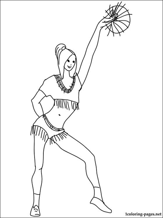 Simple Bratz Cheerleading Coloring Pages 1