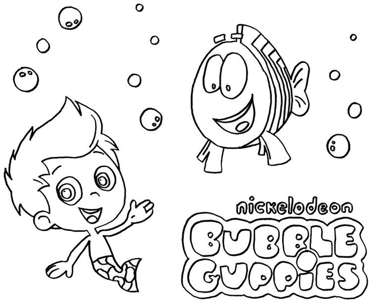 Simple Bubble Guppies Coloring Pages