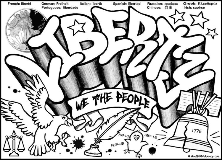 Simple Coloring Pages For Teenagers Graffiti