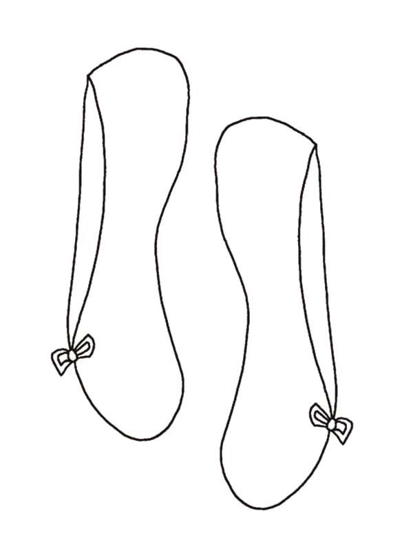 Simple Design Ballerina Shoes Coloring Pages
