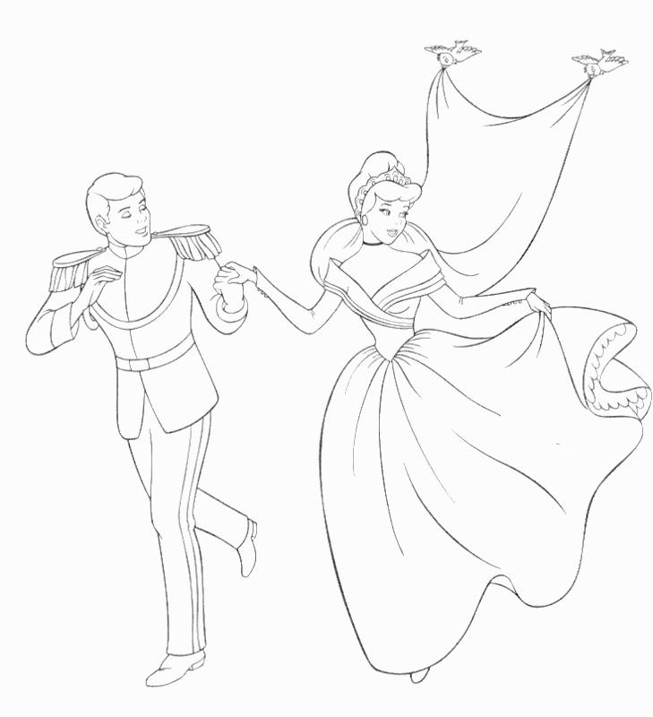Simple Disney Wedding Coloring Pages For Child
