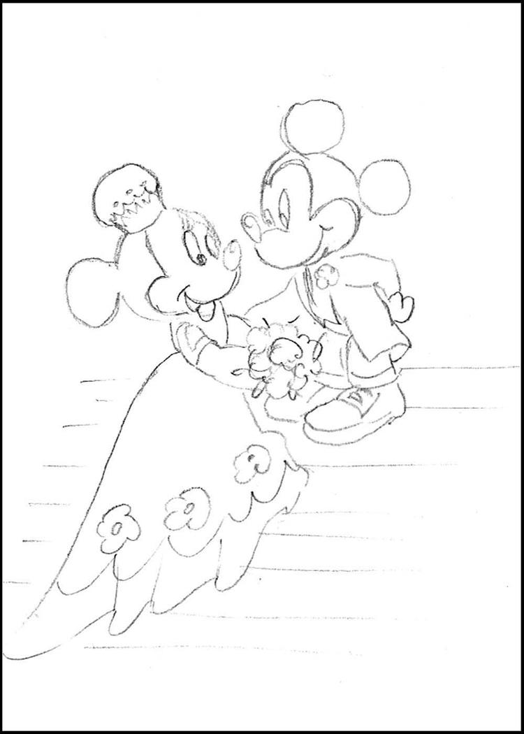 Simple Disney Wedding Coloring Pages