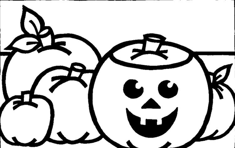 Simple Halloween Pumpkin Coloring Pages For Kids