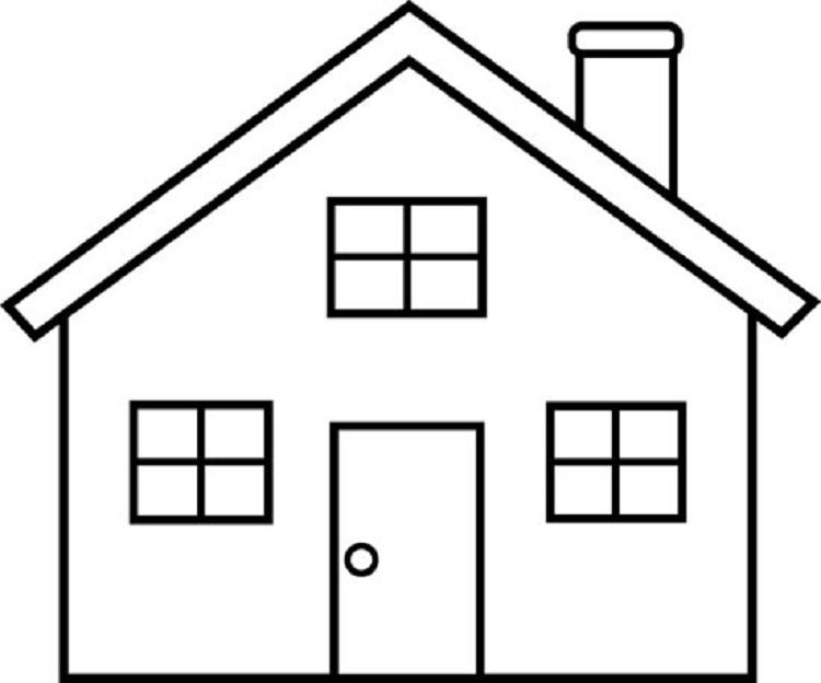 Simple House Coloring Pages - Coloring Ideas