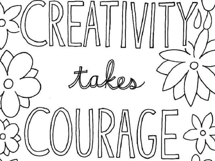 Simple Inspirational Coloring Pages
