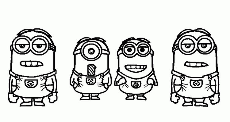 Simple Minions Despicable Me Coloring Pages