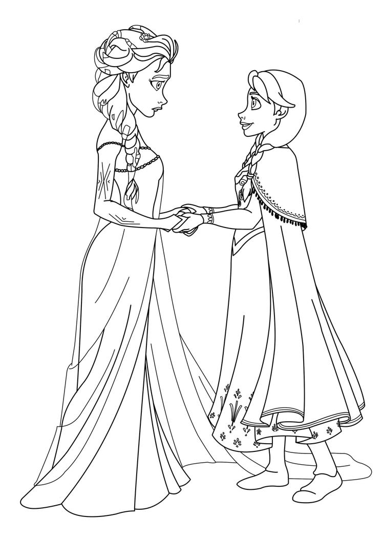 Simple Princess Coloring Pages Frozen