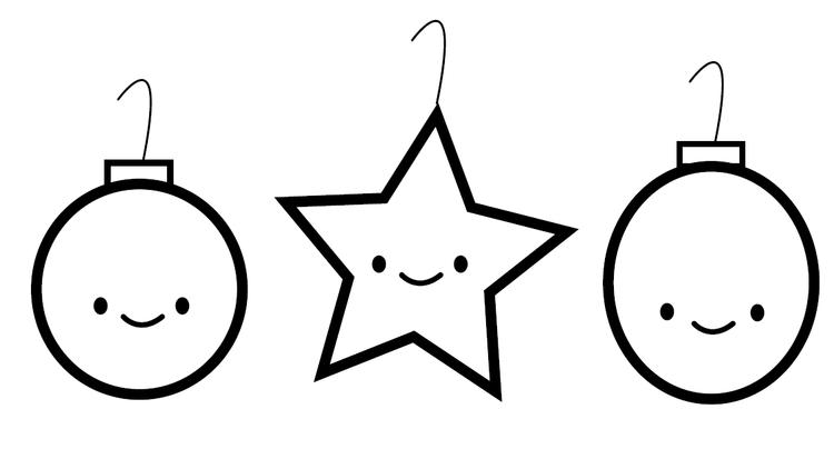 Simple Printable Coloring Pages Christmas Ornament