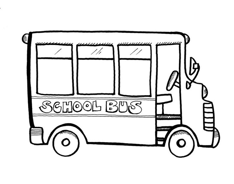 Simple School Bus Coloring Pages