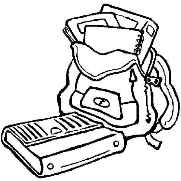 Simple School Supplies Coloring Pages