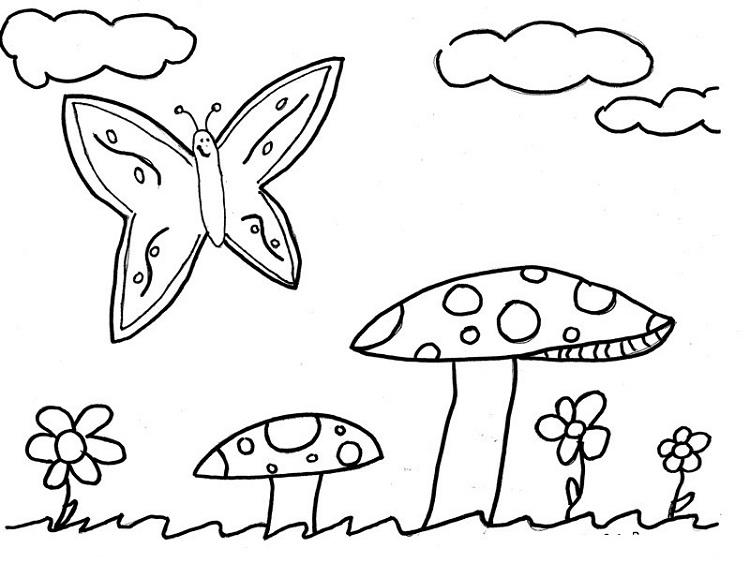 Simple Summer Coloring Pages