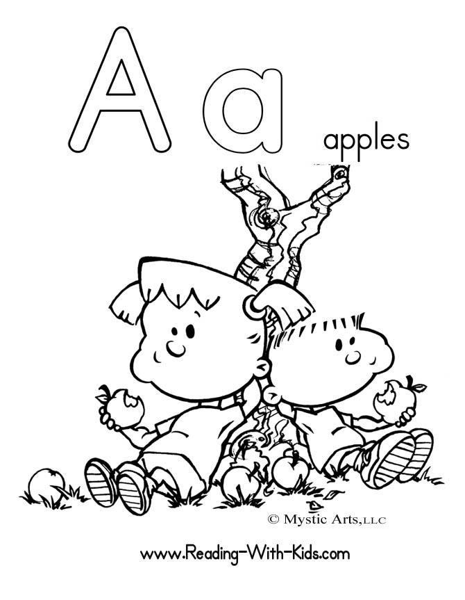 Simple Toddler Alphabet Coloring Pages 1