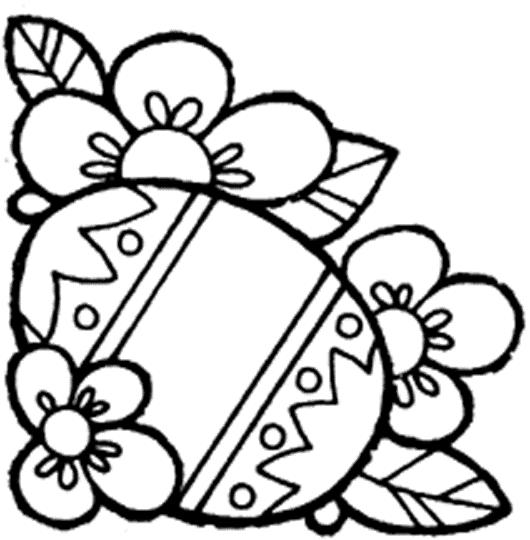 Simple Toddler Easter Coloring Pages
