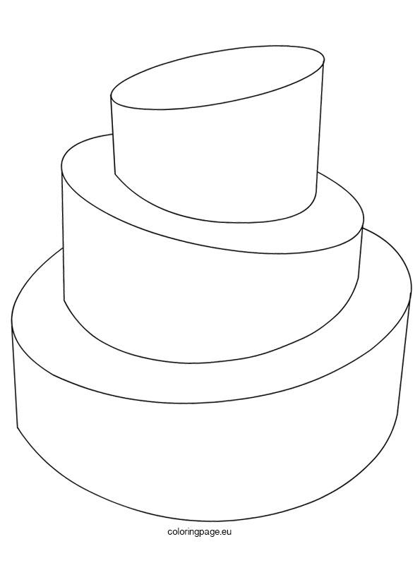 Simple Wedding Cake Coloring Pages