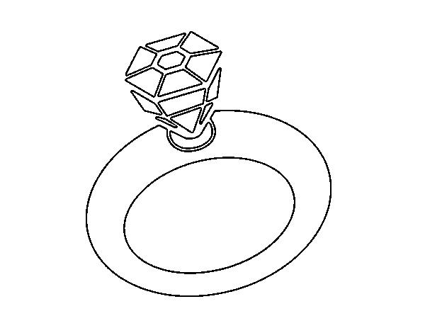 Simple Wedding Ring Coloring Pages