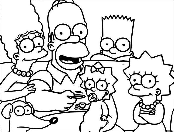 Simpson Coloring Pages To Print