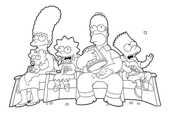 Simpson Coloring Pages Tv Show