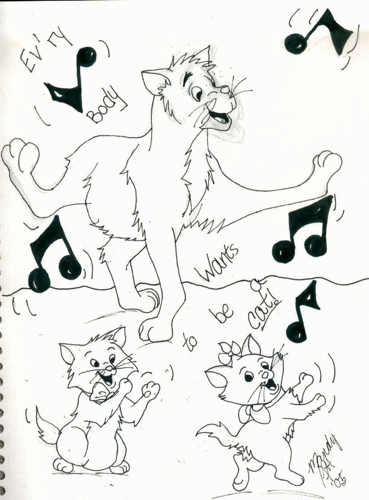 Singing Aristocat Coloring Pages For Kids
