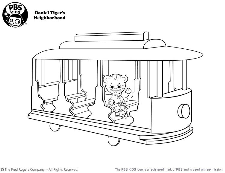 Single Daniel Tiger Coloring Pages