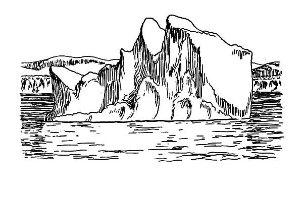 Skecth Of Iceberg Coloring Pages