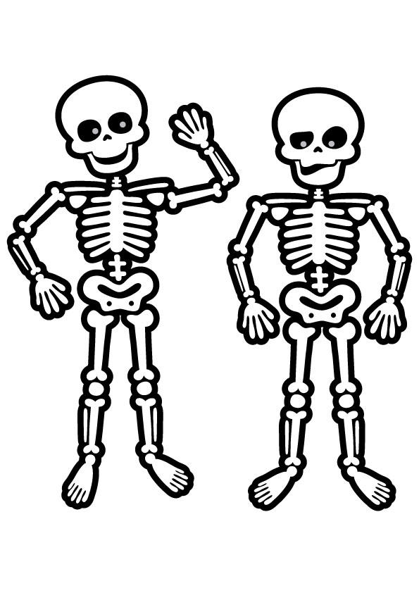 Skeleton Coloring Pages For Preschool
