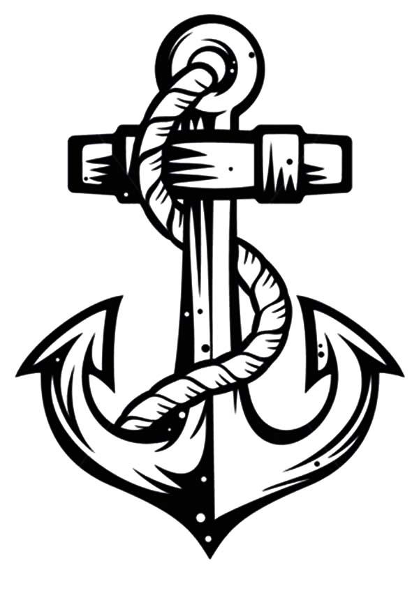 Sketch Of Anchor Coloring Pages