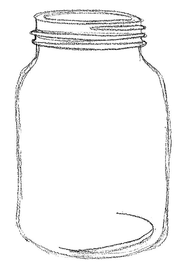 Sketch Of Jar Coloring Pages