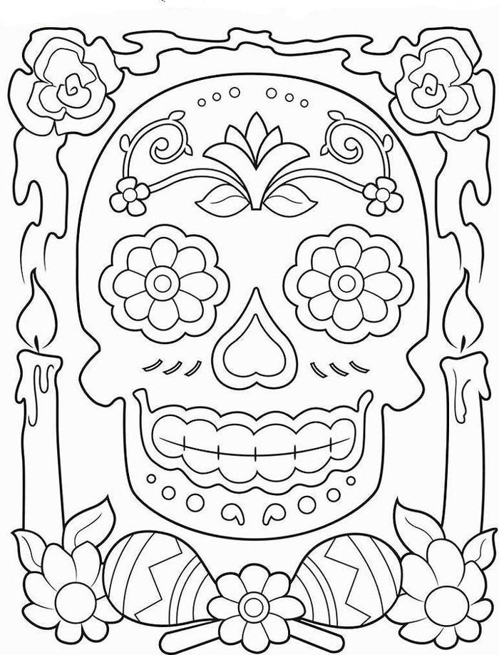 Skull Crayola Coloring Pages