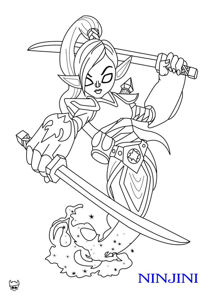 Skylanders Coloring Pages Giants Ninjini