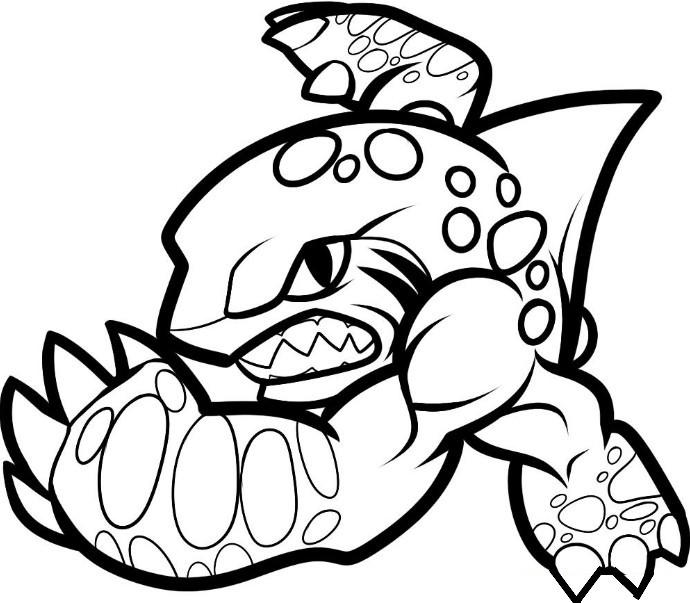 Skylanders Coloring Pages Superchargers Terrafin
