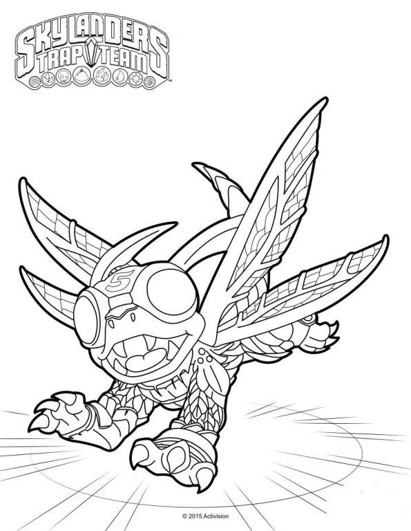Skylanders Trap Team Coloring Pages High Five