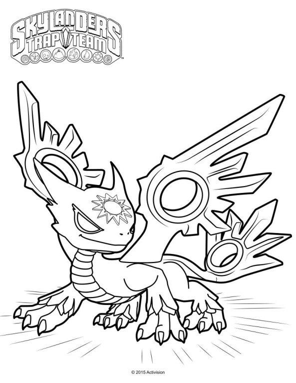 Skylanders Trap Team Coloring Pages Spotlight