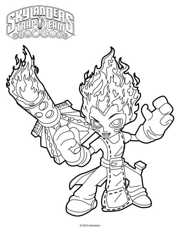 Skylanders Trap Team Coloring Pages Torch