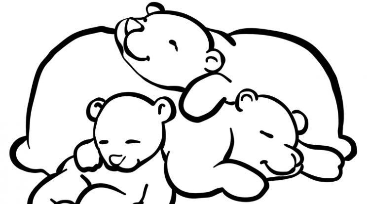 Sleeping Bear Coloring Pages To Print