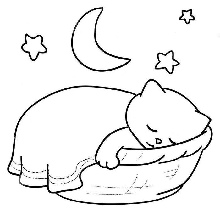 Sleeping Kittens Coloring Pages