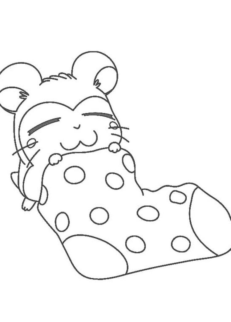 Sleepy Snoozer Hamtaro Coloring Pages