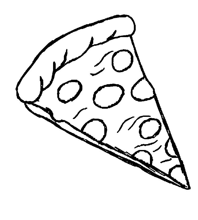 Slice Of Pizza Coloring Pages