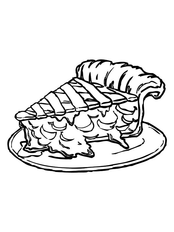 Slice Of Tasty Apple Pie Coloring Pages