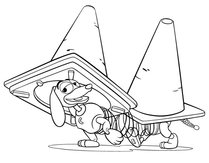 Slinky Dog Toy Story 2 Coloring Pages