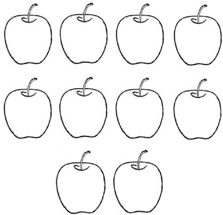 Small Apple Coloring Pages