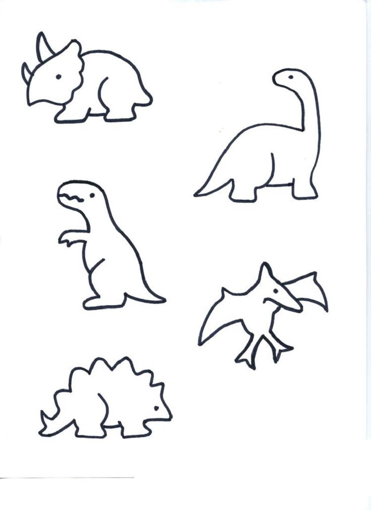 Small Dinosaur Coloring Pages