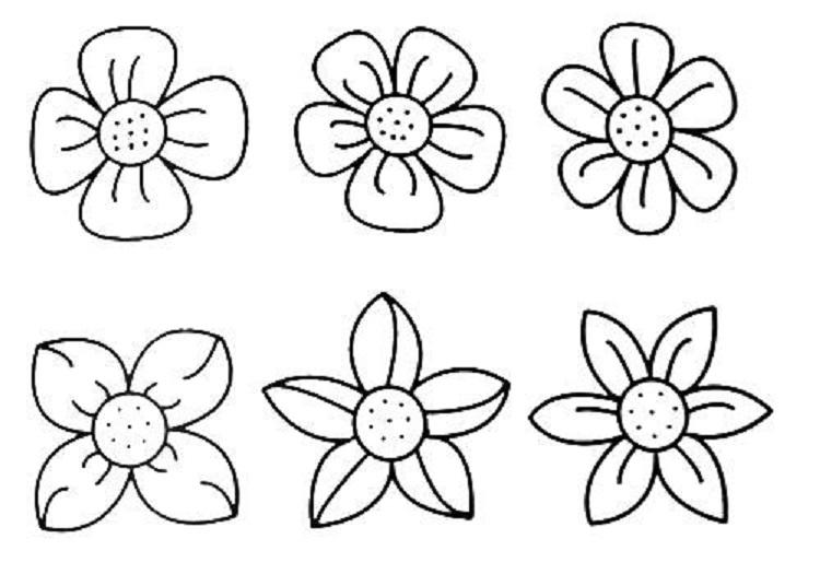 Small Flower Coloring Pages