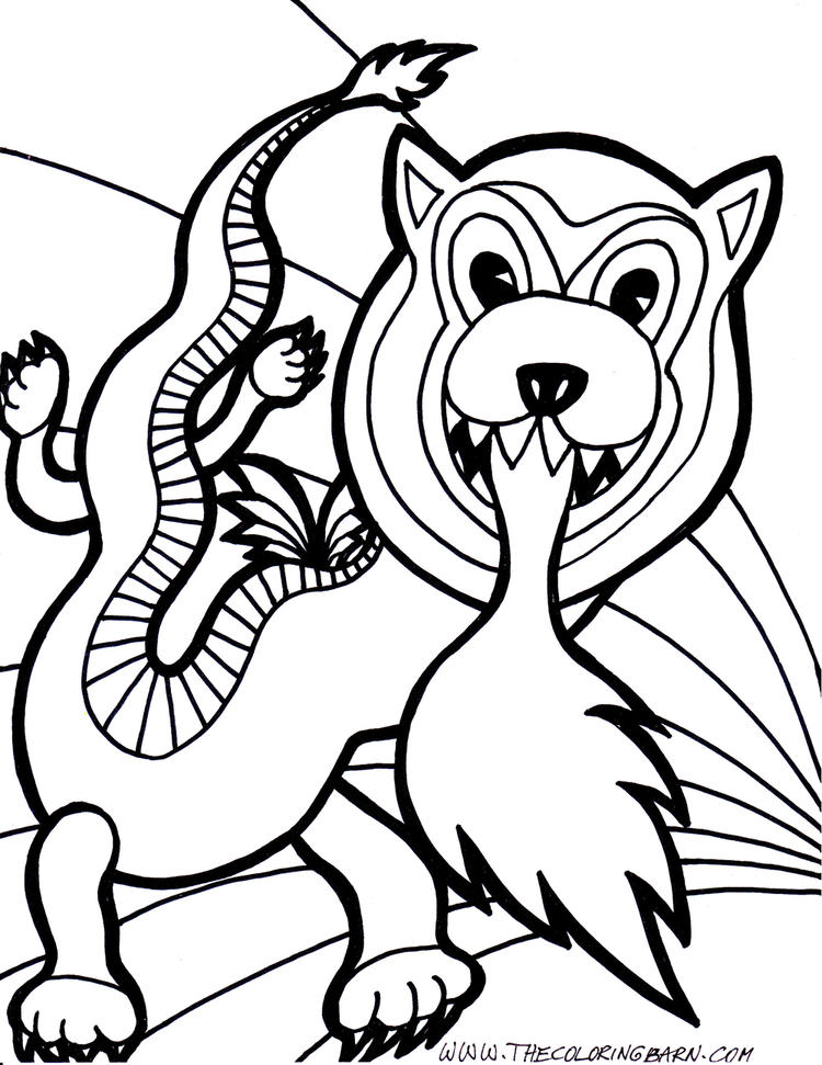 Small Flying Dragon Coloring Pages