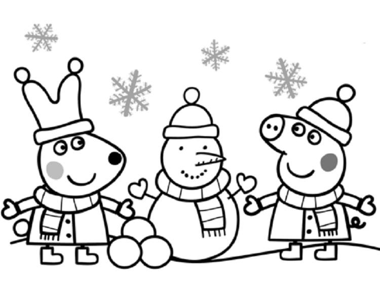 Small Snowman Coloring Pages