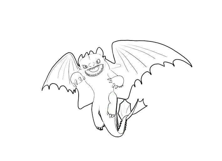 Smile Baby Dragon Coloring Pages 1