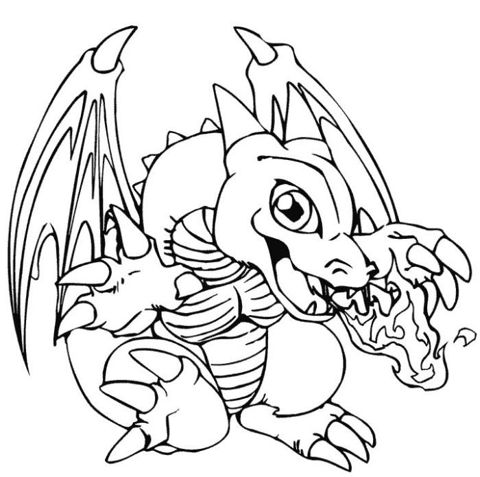 Smile Baby Dragon Coloring Pages