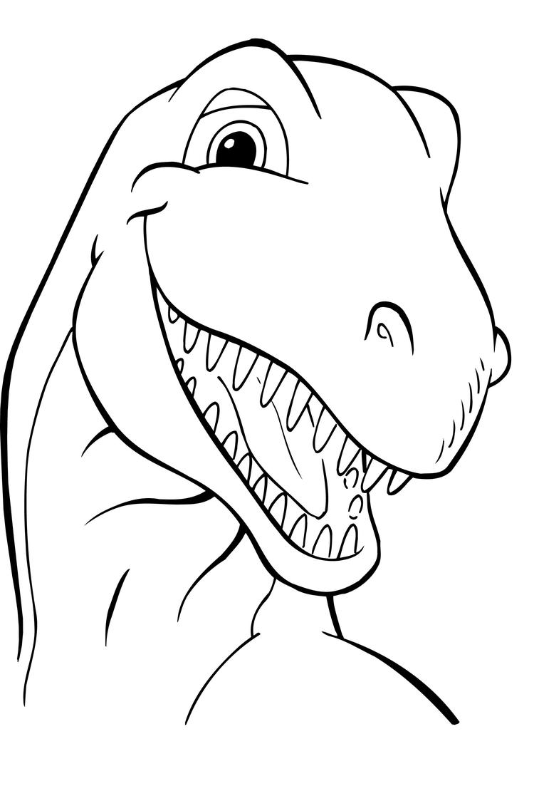 Smile Dinosaurs Coloring Pages