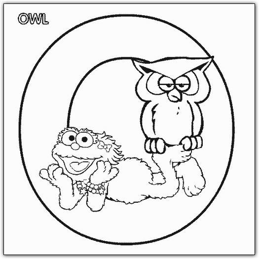 Smile Elmo Abc Coloring Pages
