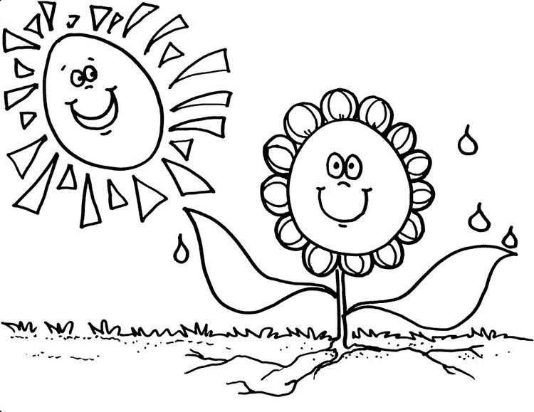 Smile Preschool Coloring Pages Spring