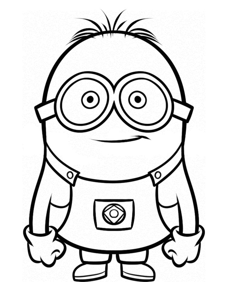 Smiley Minion Despicable Me Coloring Pages